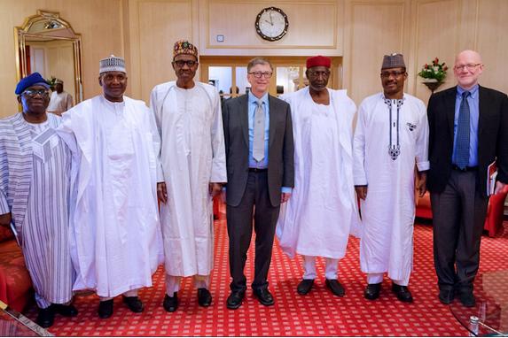 Dangote-Bill-Gates-Buhari