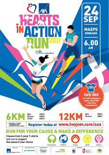 AXA Hearts in Action Run 2017 poster