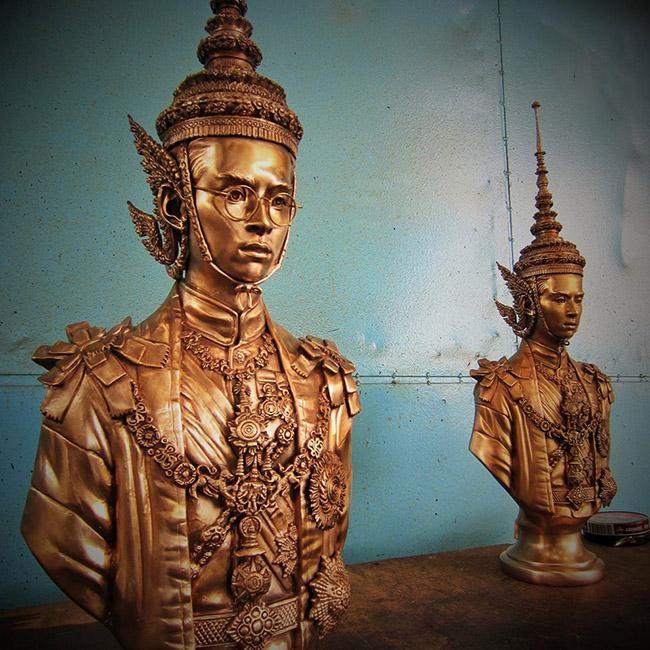 Chatchawan Amsomkid - Thai King Rama IX Art