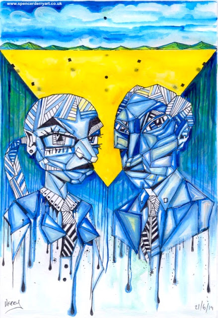 Cold People - Original hand-drawn & painted art illustration