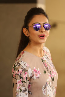 Actress Rakul Preet Singh Latest Stills in Floral Dress at Infinity Ride 2016 Curtain Raiser Pressmeet  0009.jpg