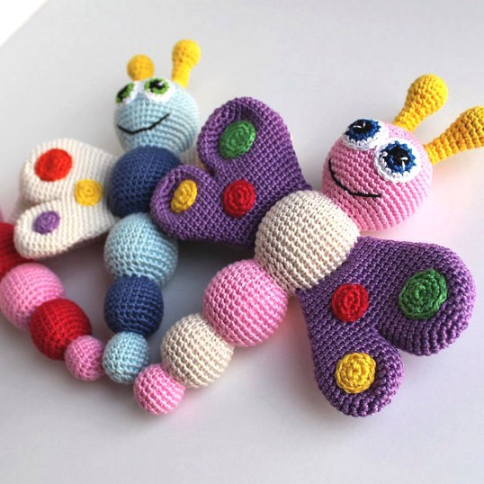 25 Crochet Butterfly Free Patterns [Picture Instructions] | Tricô ... | 538x538