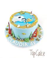 Meriaiheinen kakku, lastenkakku, syntymäpäiväkakku, merikakku, topcake, kalakakku, kuvakakku, satukakku, ocean cake, merielämä kakku, sea life cake, meren elämää kakku, rantakoristeita kakulle, täytekakku, rantakakku,