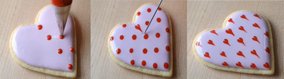 icing for cookies, frosting for cookies, cookie decorating ideas, valentine cookies, heart cookies, ideas for valentines day, valentines day 2017
