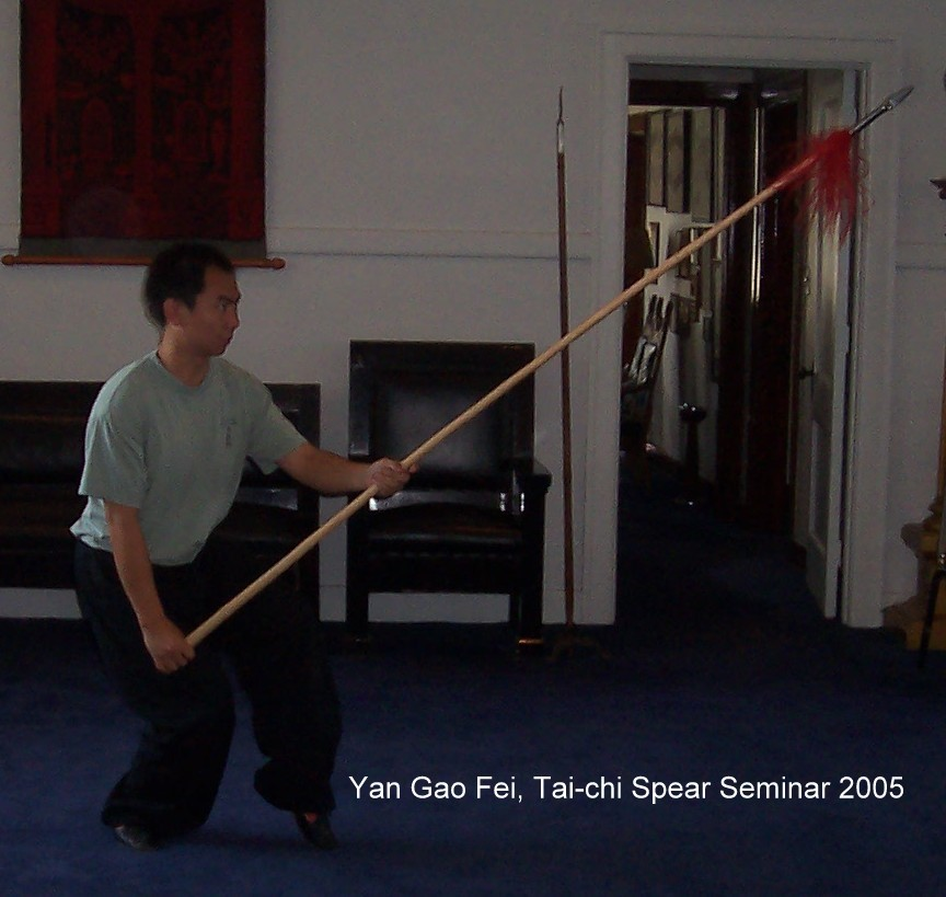 Internal Gong Fu: Yan Gaofei Tai-chi Spear Seminar: Journal