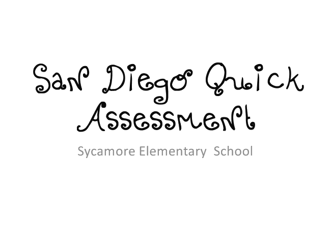 Mrs. Chappell's 2nd Grade Blog: San Diego Quick Assessment