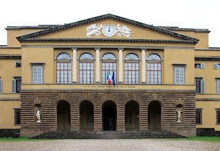 The Villa del Poggio Imperiale is about 4.5km (2.8 miles) outside Florence, to the south