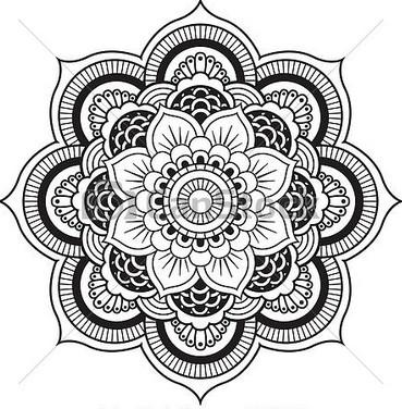22 innovative henna flower on paper. Black Bedroom Furniture Sets. Home Design Ideas