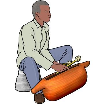 アフリカのスリットドラム slitdrum