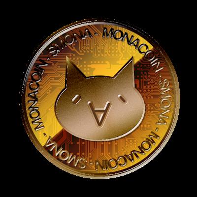 MonaCoin(表面)のフリー素材(銅貨ver)