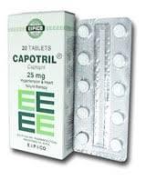 سعر ودواعى إستعمال دواء كابوتريل Capotril لعلاج أرتفاع ضغط الدم