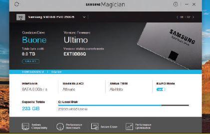 Programma per monitorare hard disk SSD Samsung