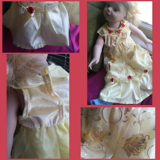 belle dress collage