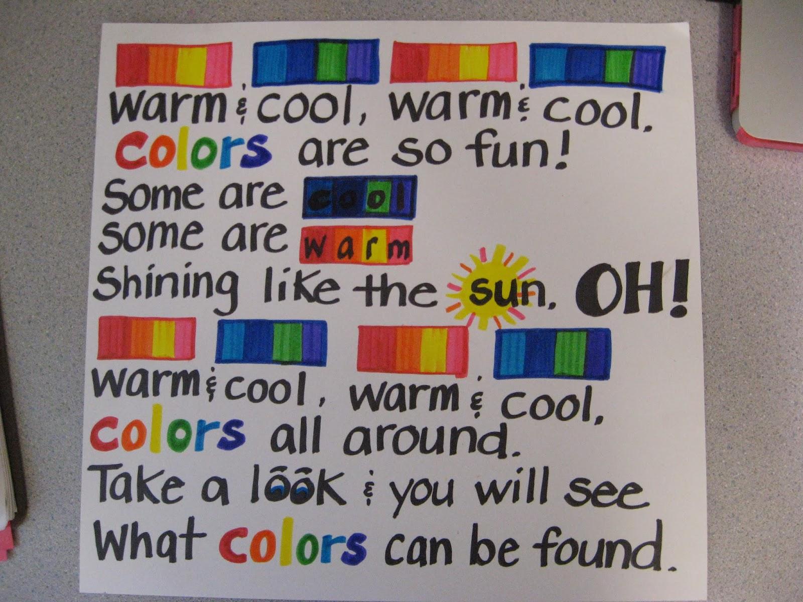 Jamestown Elementary Art Blog Kindergarten Warm Cool Jim