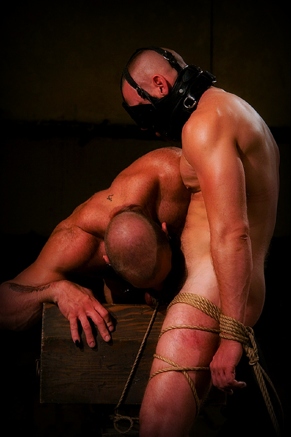Bound and gagged gay porn