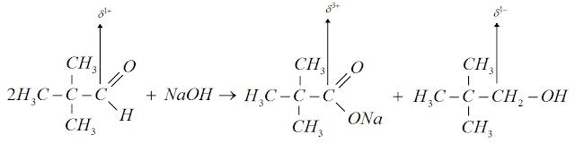 Reaçao dimetilpropanal hidroxido sodio