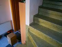 Betontreppe renovieren - Antrittstufen vor Beginn der Renovierung