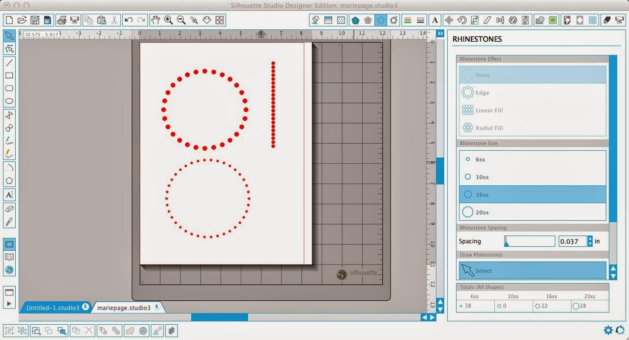 Polka dot, shapes, Silhouette Studio, Silhouette tutorial, rhinestone