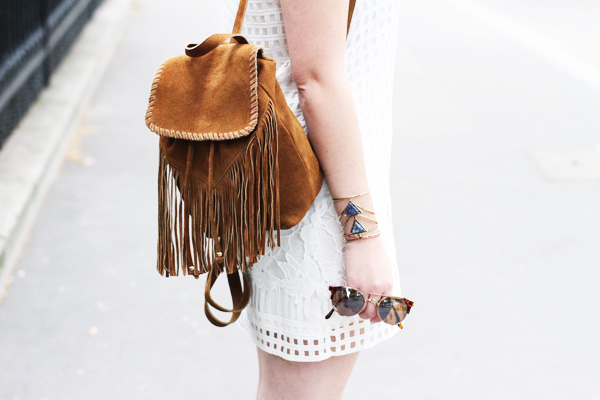 sac à dos franges camel asos warehouse backback fringes