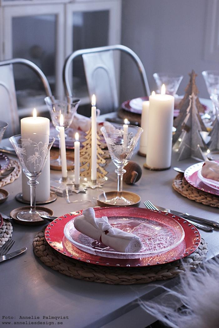 jul, juldukning, bordsdukning, julen 2017, servetter, rusta, rött, röda, röd, servettvikning, julafton, julmat,
