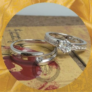 cincin emasputih paladium P5841