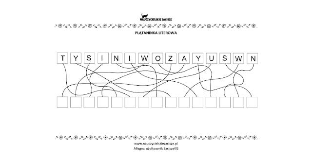 wiosna karty pracy dla dzieci plątaninki literowe