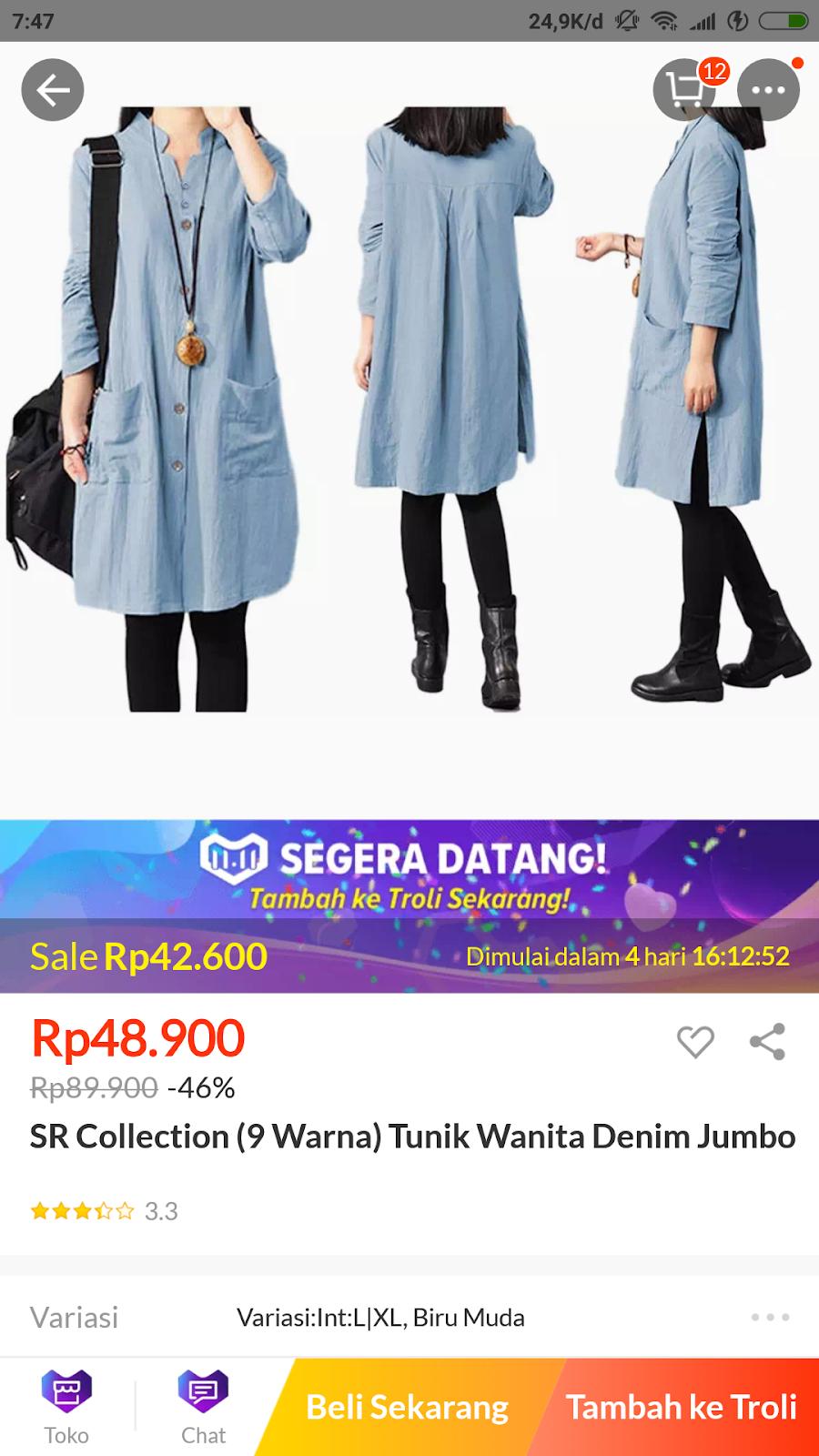 Kapan lagi bisa dapat baju harga murah tapi bagus selain di promo spesial  Lazada ini 8409a14b01