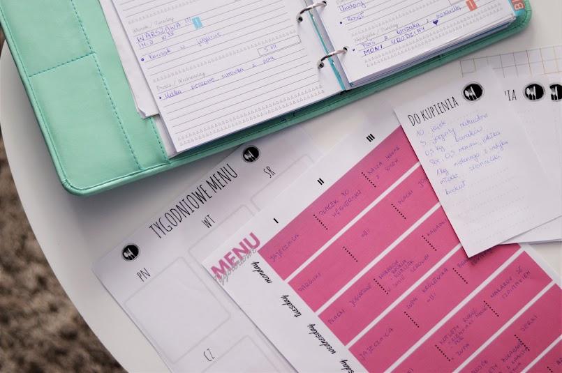 Tygodniowe MENU + przepisy + DO DRUKU planner menu i listy zakupów