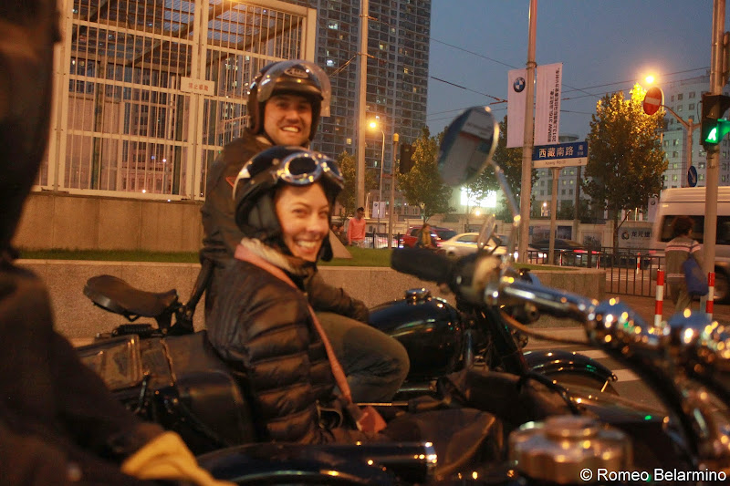 Shane Ullman of Insiders Experience leading our sidecar tour of Shanghai China