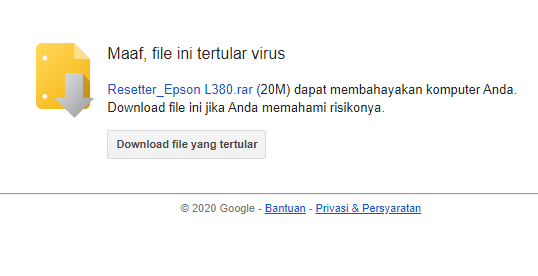 Cara Download File Google Drive Tertular Virus