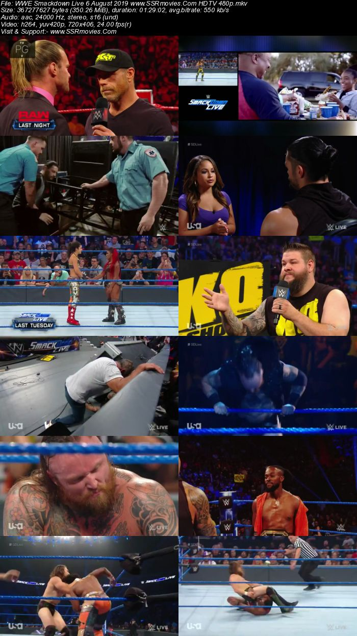 WWE Smackdown Live 6 August 2019 Full Show Download 480p 720p HDTV WEBRip