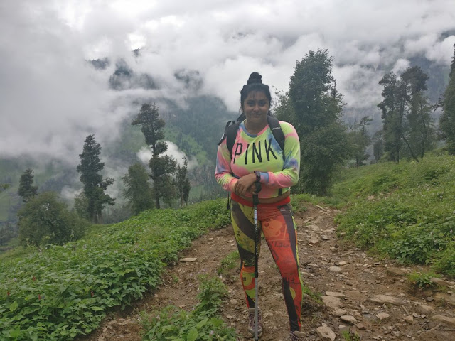 Actress Namita enjoying a holiday in Himachal Pradesh