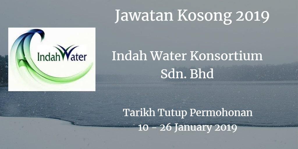 Jawatan Kosong Indah Water Konsortium Sdn. Bhd 10 - 26 January 2019