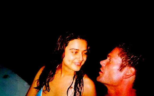 The first photo of the just married couple Priety Zinta and Gene Goodenough has surfaced.   No, it is not a photo of their wedding, which they want to auction for charity, according to some media reports.   But it is the first colour photo of Gene and the first photo ever showing the couple together sharing a private moment.