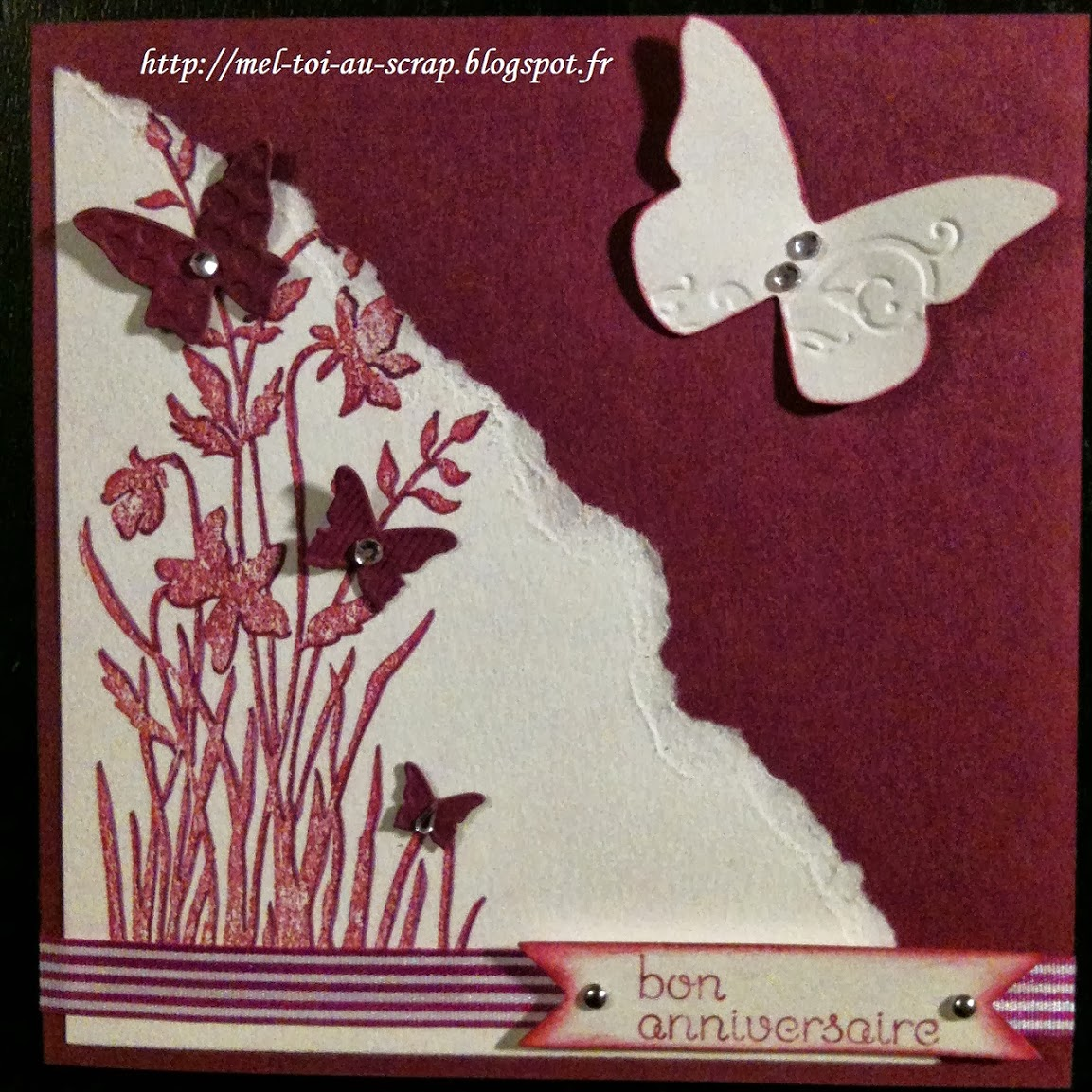 mel toi au scrap carte anniversaire papillons. Black Bedroom Furniture Sets. Home Design Ideas