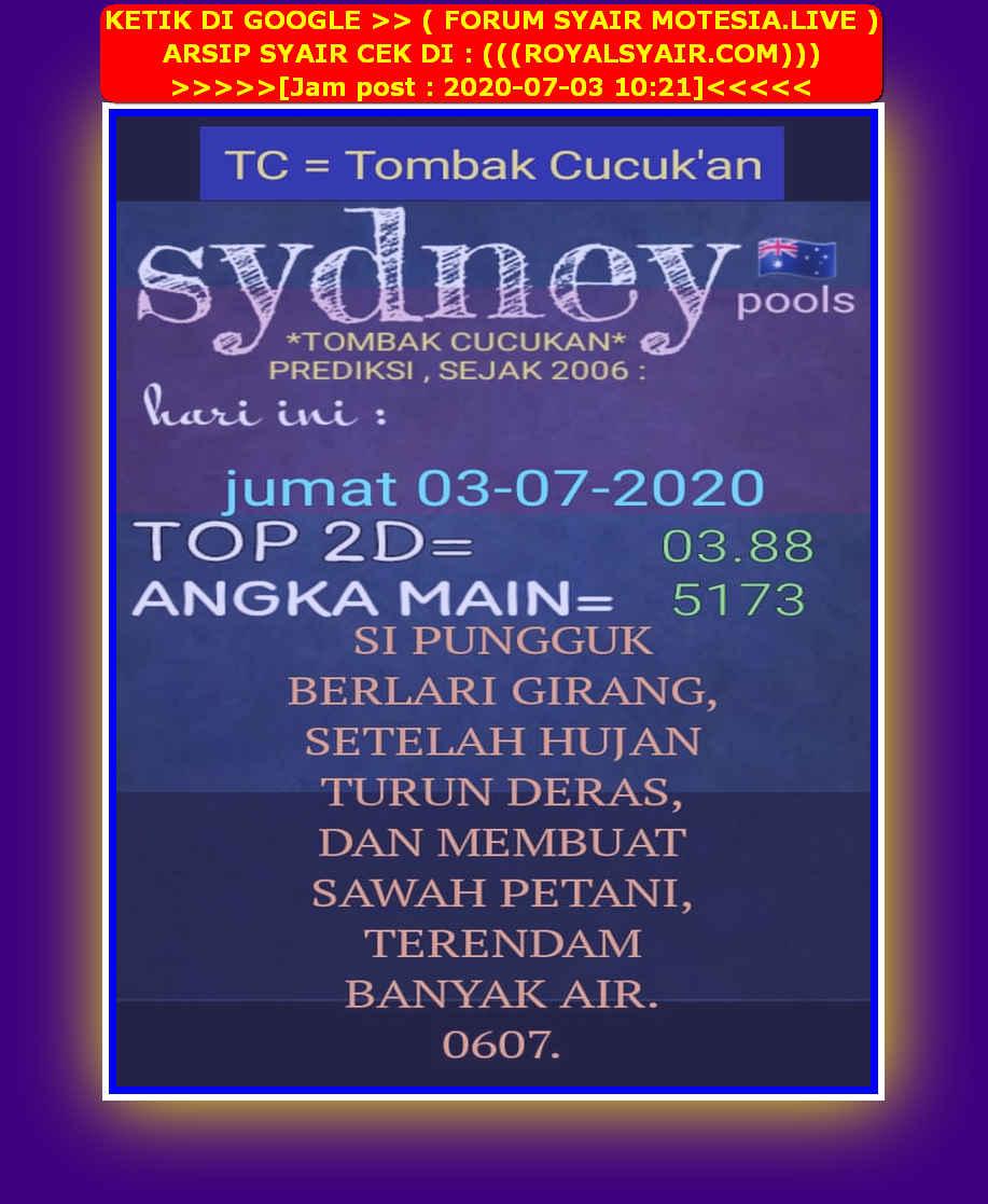 Kode syair Sydney Jumat 3 Juli 2020 25