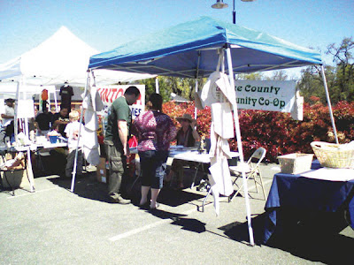 Lake County Community Co-op booth at 2009 Earth Day celebration