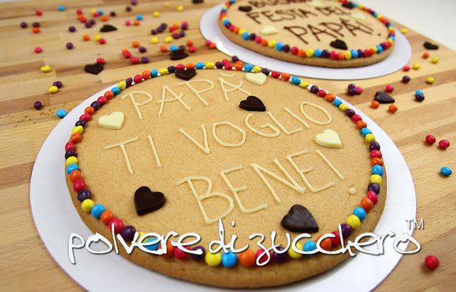 polvere di zucchero tutorial biscottone cookie festa del papà cake design decorazione