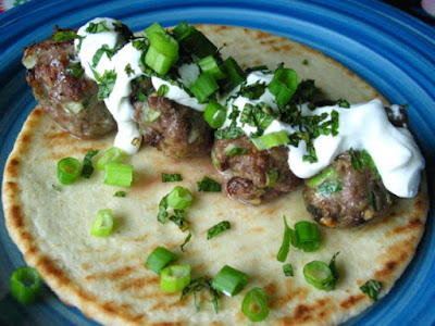 Lamb Meatball Gyros With Yogurt and Mint