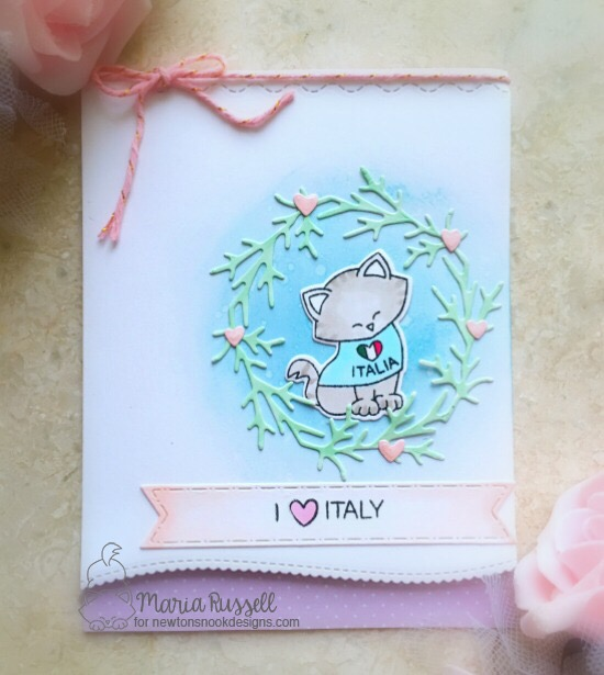 Italy Cat card by Maria Russell | Newton Dreams of Italy stamp set by Newton's Nook Designs #newtonsnook