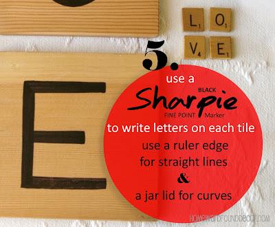 giant letter tiles, tutorial, Scrabble tiles, Scrabble tile wall art, wall art, wood crafts, lettered signs, signs, Scrabble, DIY