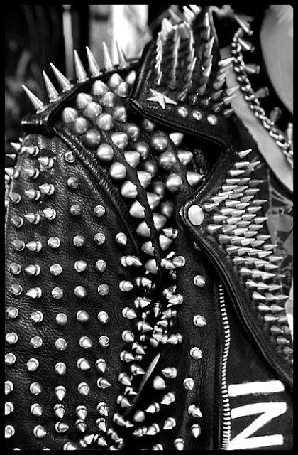 leather studded jacket