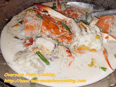 Ginataang Alimasag with Sotanghon - Cooking Procedure