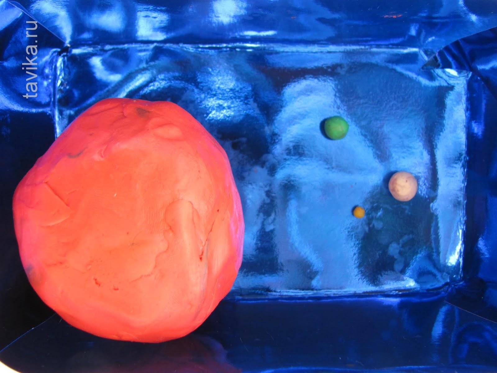 Детская поделка про космос - Сравнительные размеры звезд