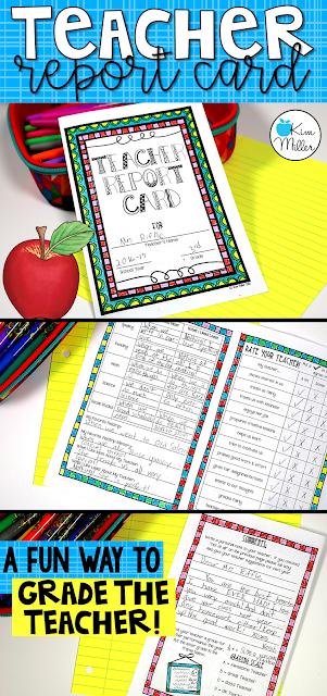 Teacher Report Card: A Fun Way to Grade the Teacher!