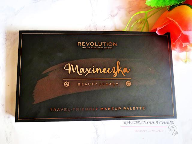 Makeup Revolution Maxineczka Beauty Legacy, paleta do makijażu, paletka cieni Maxineczka, kosmetyki do makijażu, Kwadrans dla Ciebie, makijaż oka, makeup palette Maxineczka,