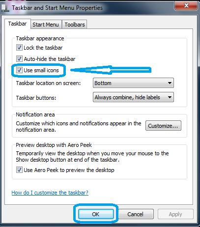 Cara Memperkecil Ukuran Taskbar Pada Windows  Cara Merubah Ukuran Taskbar di Windows 7
