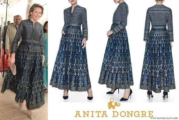 Queen Mathilde wore Anita Dongre nadya dress