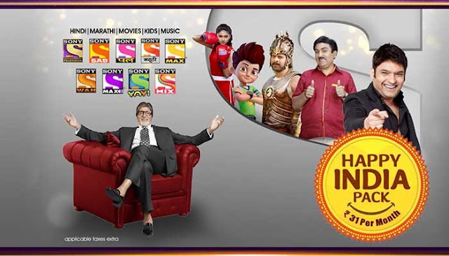 Sony Happy India Pack Channel List