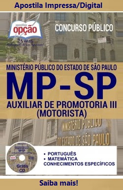 Apostila Preparatória MP SP 2016 - AUXILIAR DE PROMOTORIA III